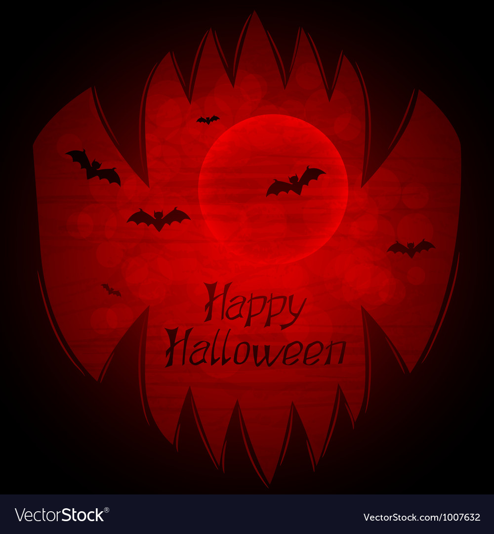 Halloween background with sharp teeth vector | Price: 1 Credit (USD $1)