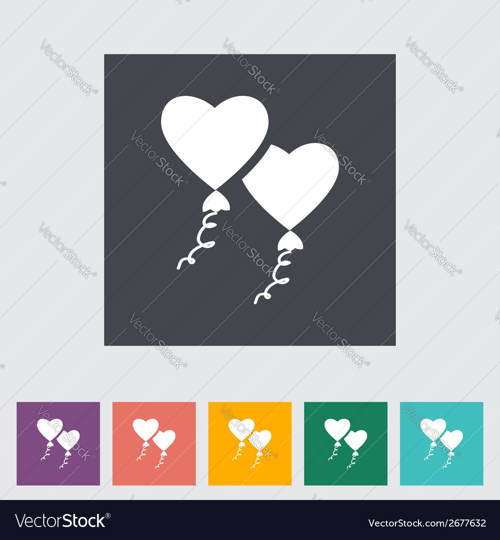 Heart balloon vector | Price: 1 Credit (USD $1)