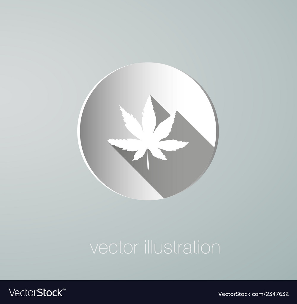 Icon cannabis paper vector | Price: 1 Credit (USD $1)