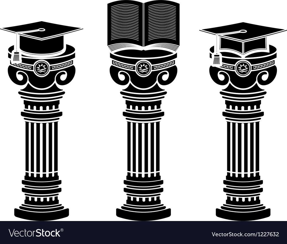 Pedestals of education vector | Price: 1 Credit (USD $1)