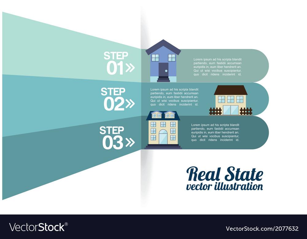 Real estate design over white background vector   Price: 1 Credit (USD $1)