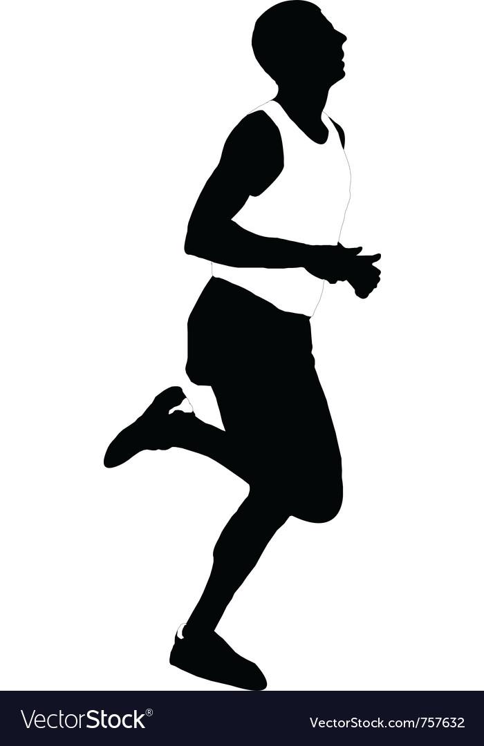 Silhouette running men vector | Price: 1 Credit (USD $1)