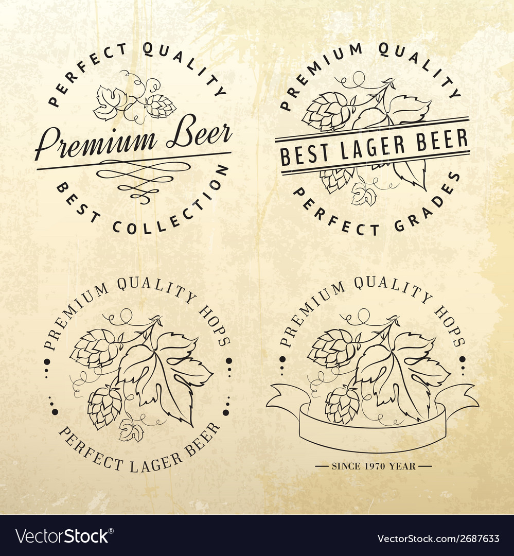 Beer emblems and labels vector | Price: 1 Credit (USD $1)