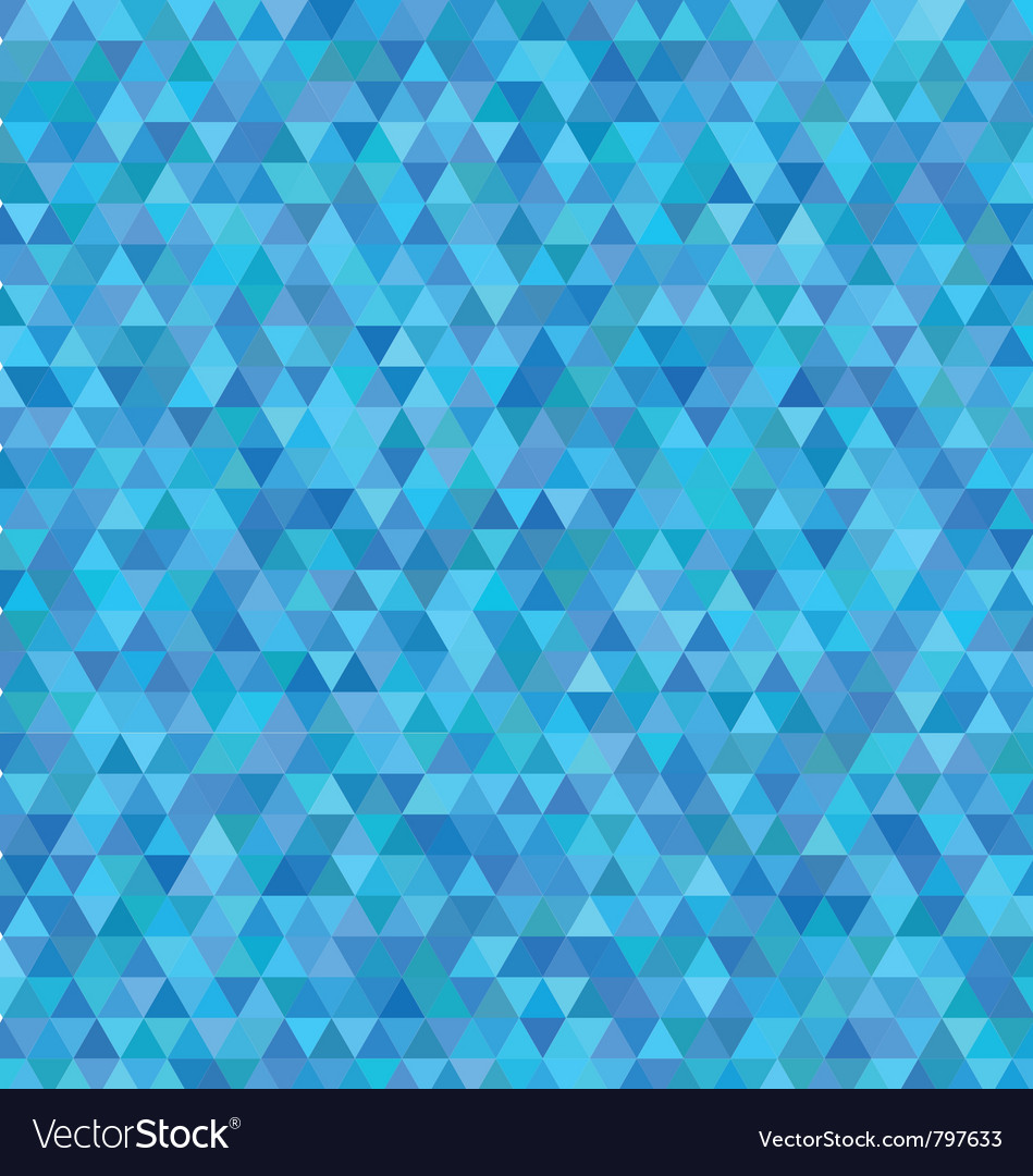 Blue triangles pattern vector | Price: 1 Credit (USD $1)