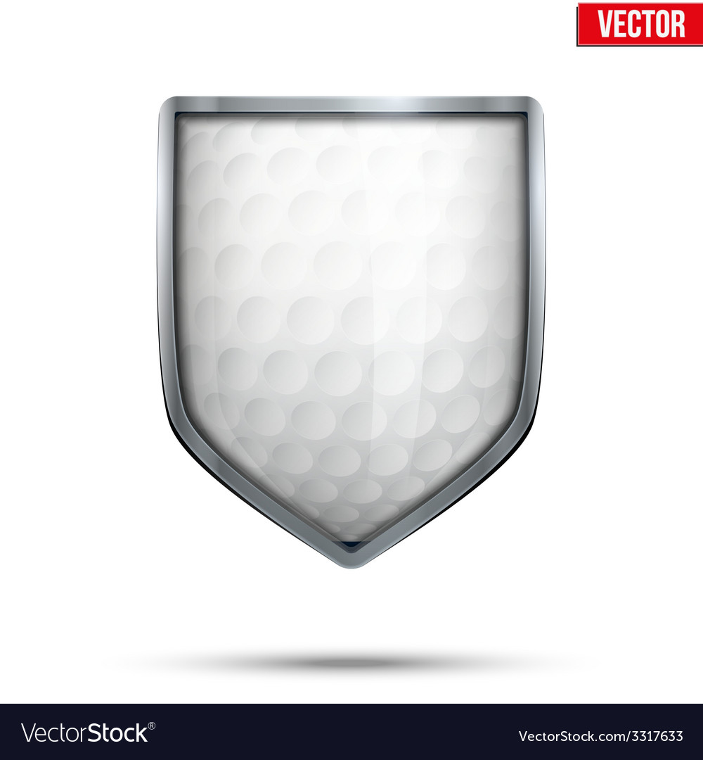 Bright shield in the golf ball inside vector | Price: 1 Credit (USD $1)