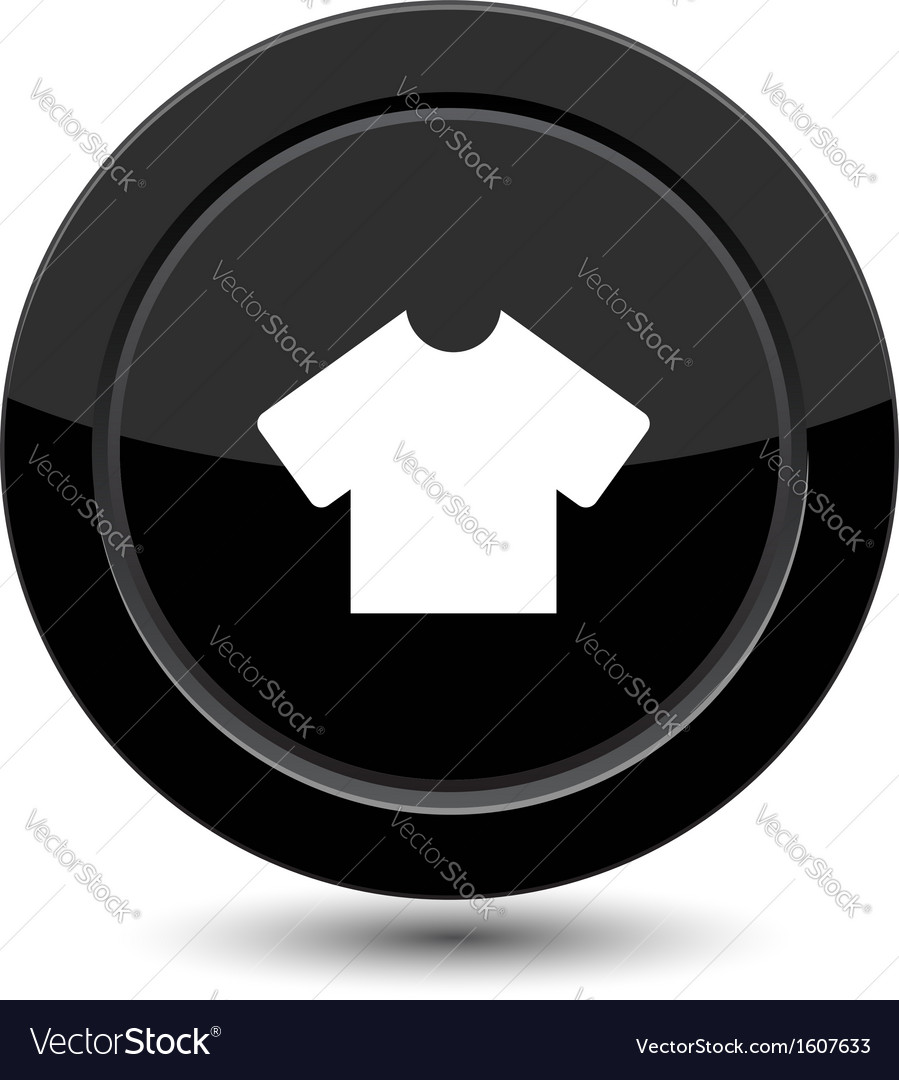Button with t-shirt vector | Price: 1 Credit (USD $1)