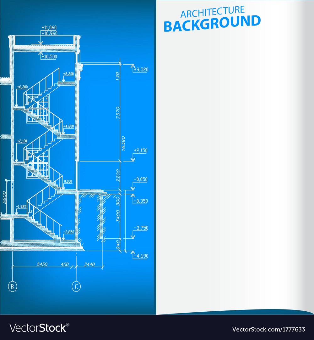 Detailed architectural project vector | Price: 1 Credit (USD $1)