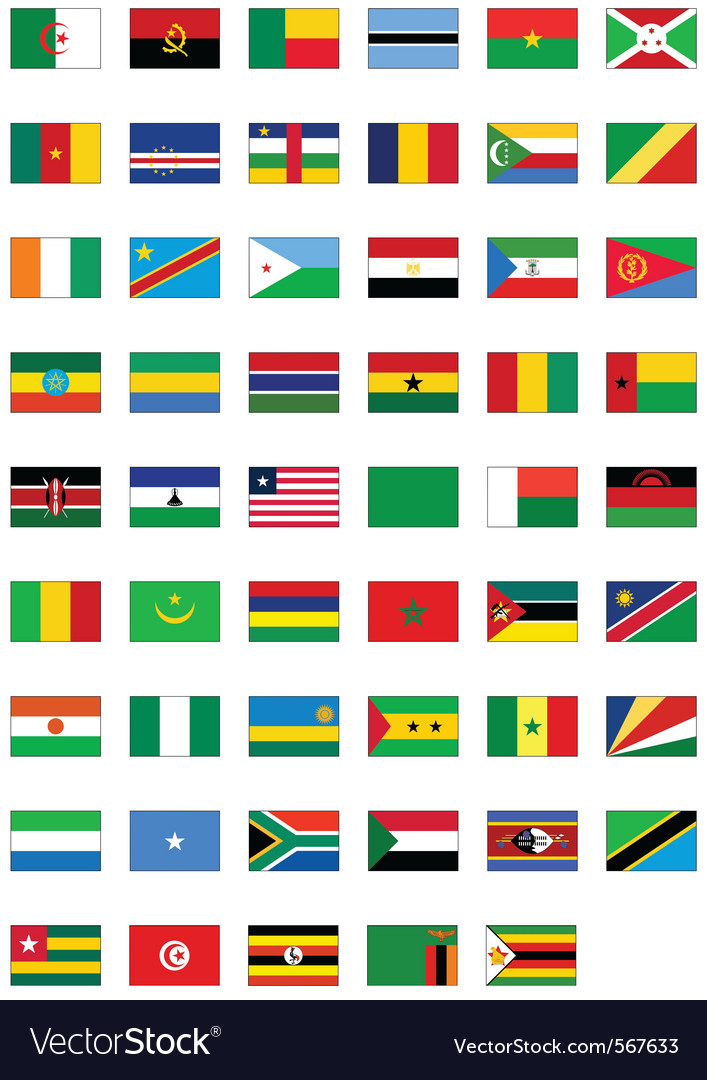 Flag set of all african countries vector | Price: 1 Credit (USD $1)