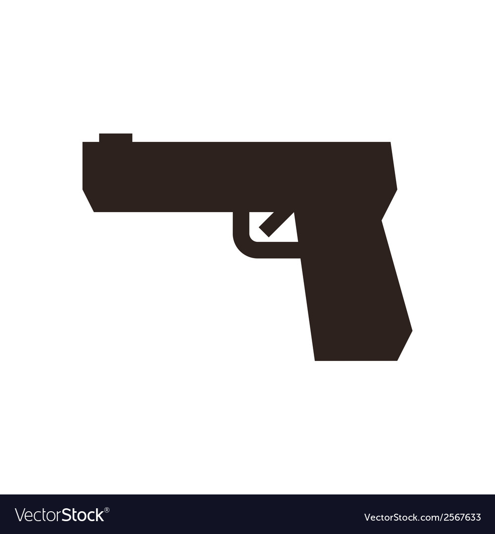 Gun symbol vector | Price: 1 Credit (USD $1)