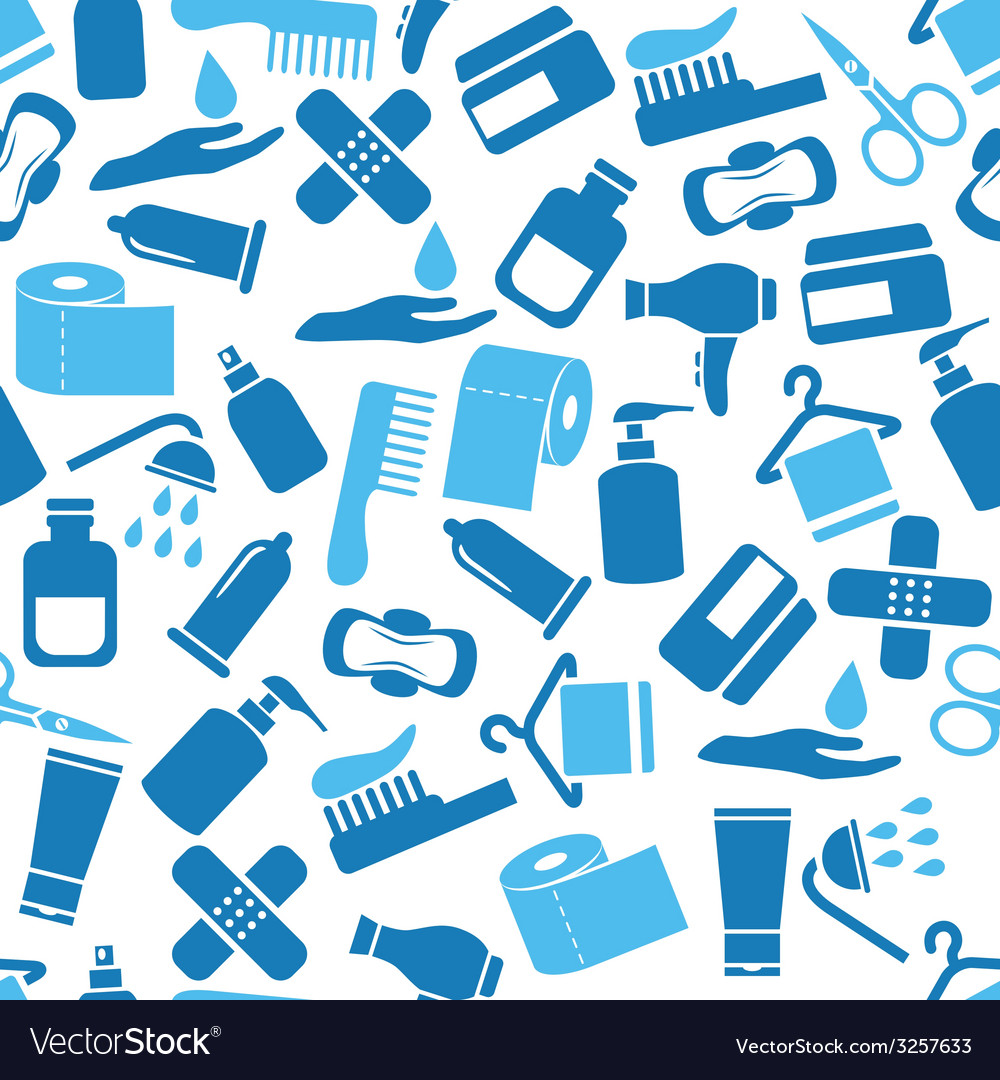 Hygiene seamless pattern vector | Price: 1 Credit (USD $1)