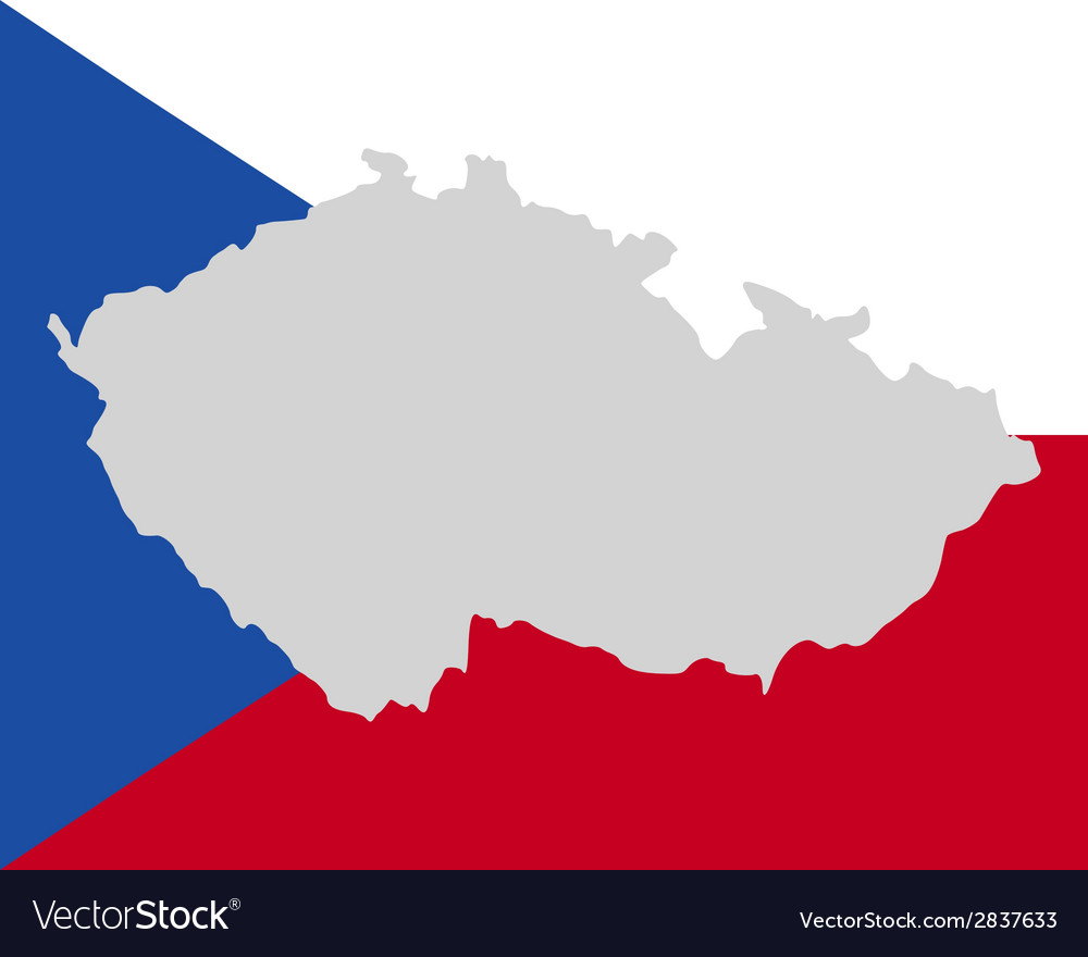 Map and flag of czech republic vector | Price: 1 Credit (USD $1)