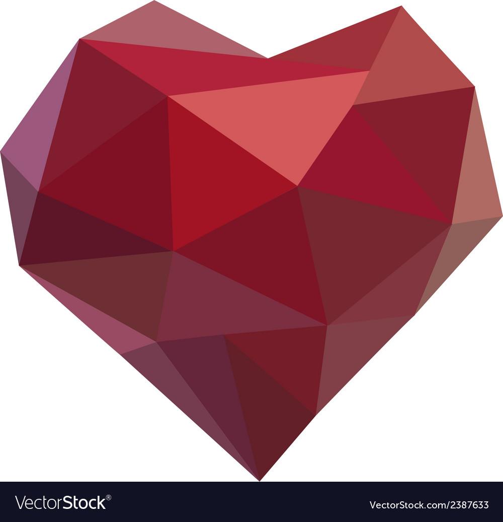 Polygonal heart vector | Price: 1 Credit (USD $1)
