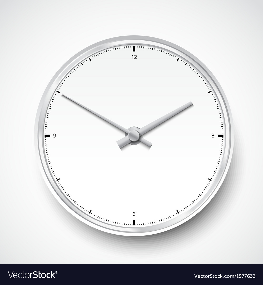 Realistic clock watch icon vector | Price: 1 Credit (USD $1)
