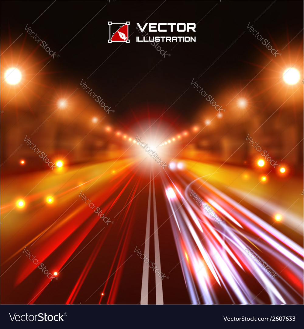 Red tint night road vector | Price: 1 Credit (USD $1)