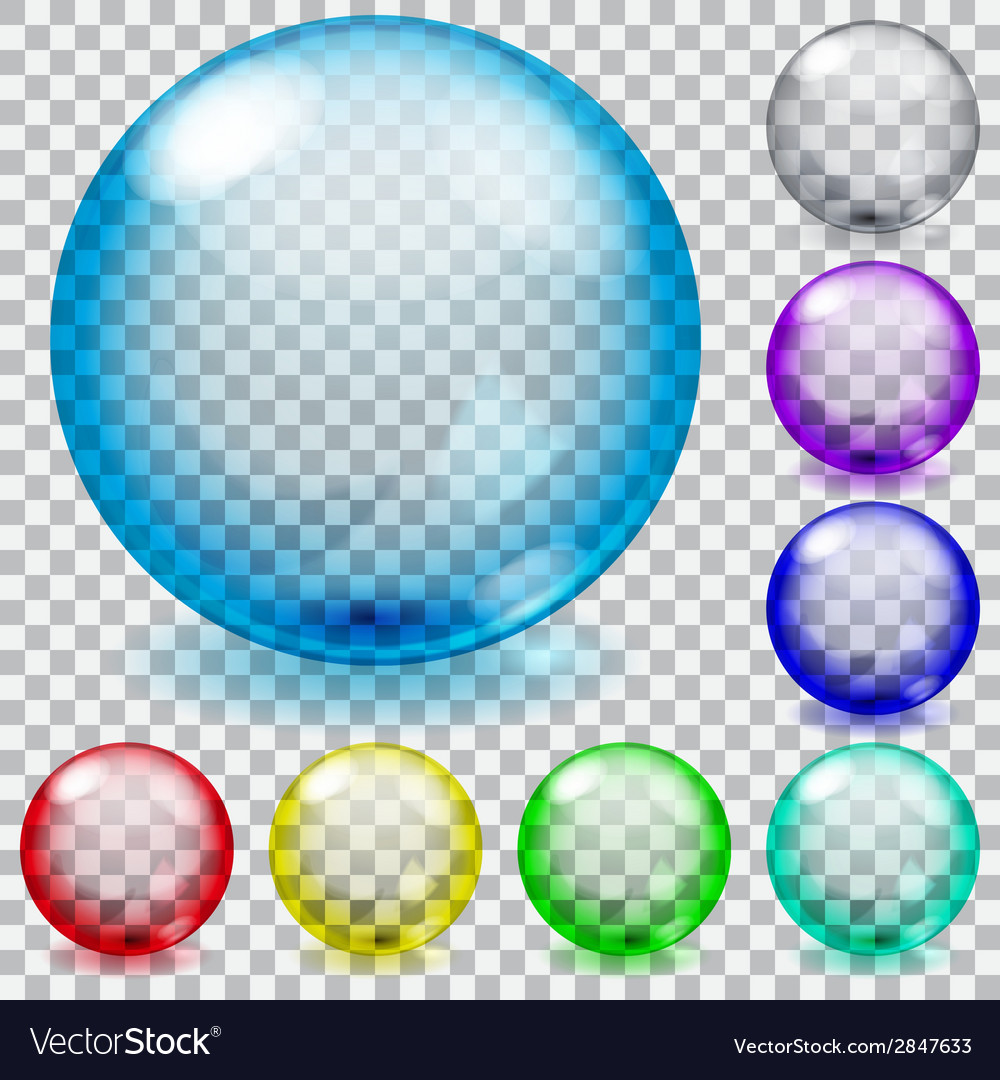 Set of transparent glass spheres vector | Price: 1 Credit (USD $1)