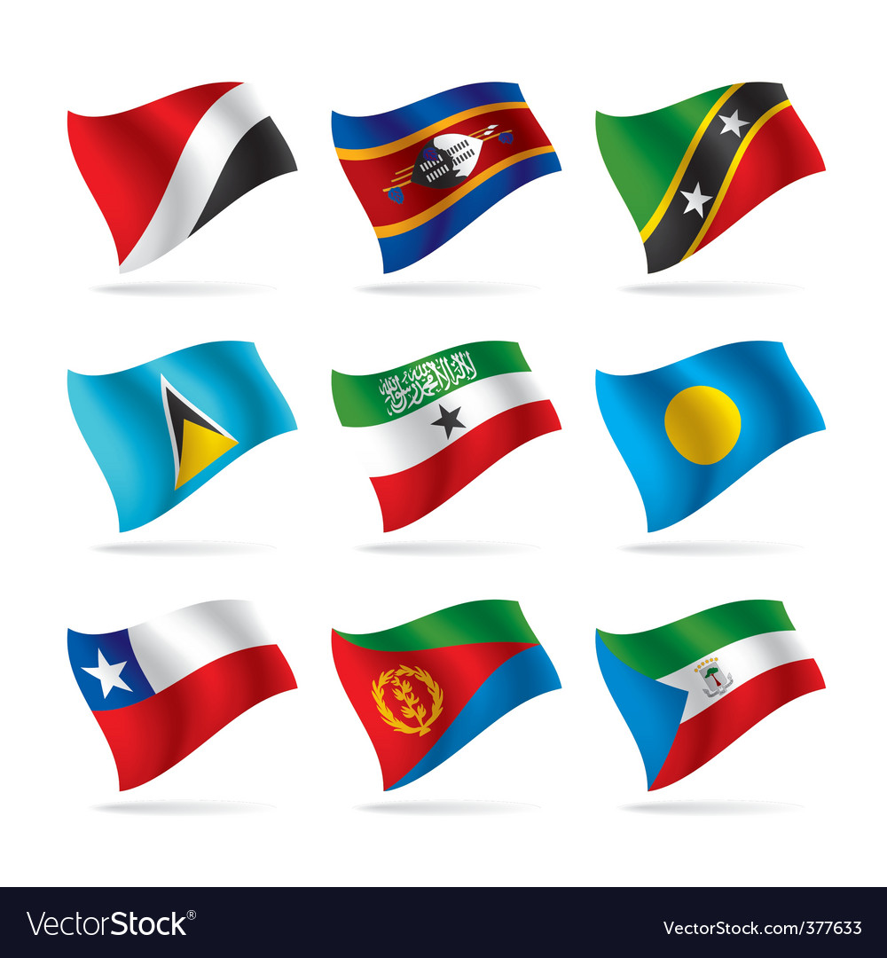 Set of world flags 14 vector | Price: 1 Credit (USD $1)
