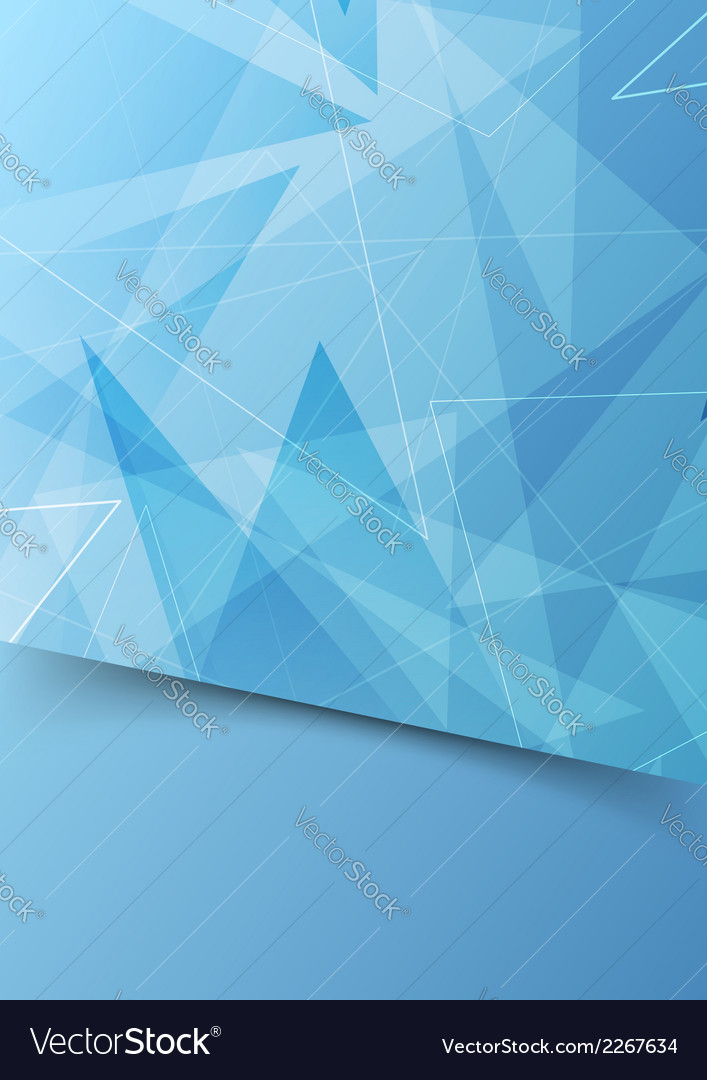 Blue abstract folder template with border vector | Price: 1 Credit (USD $1)