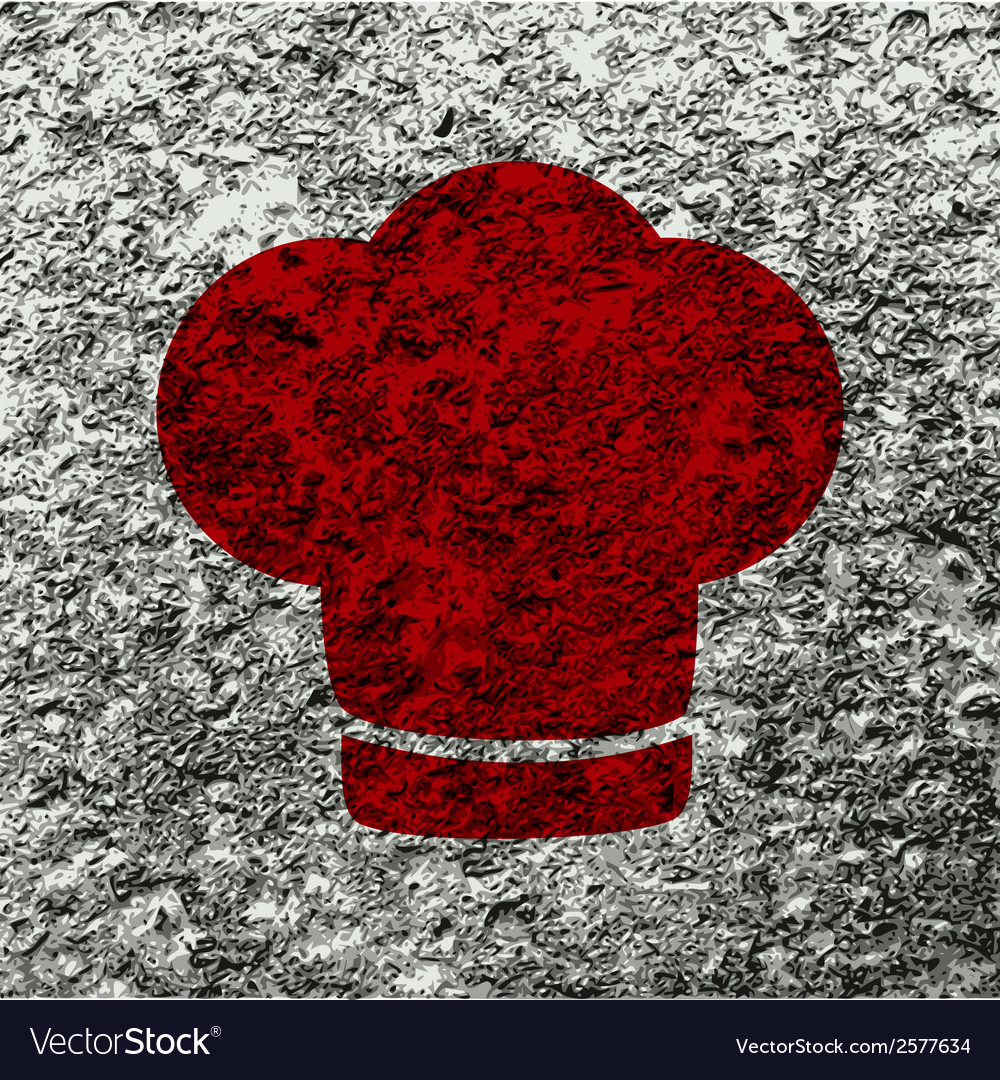 Chef cap cooking flat modern web button and space vector | Price: 1 Credit (USD $1)