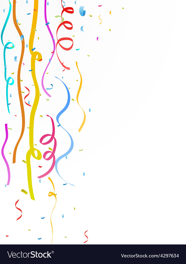 Colorful party streamer vector