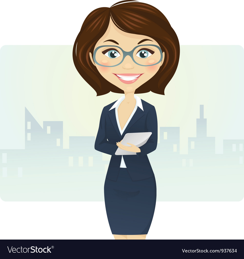 Cute businesswoman vector | Price: 3 Credit (USD $3)