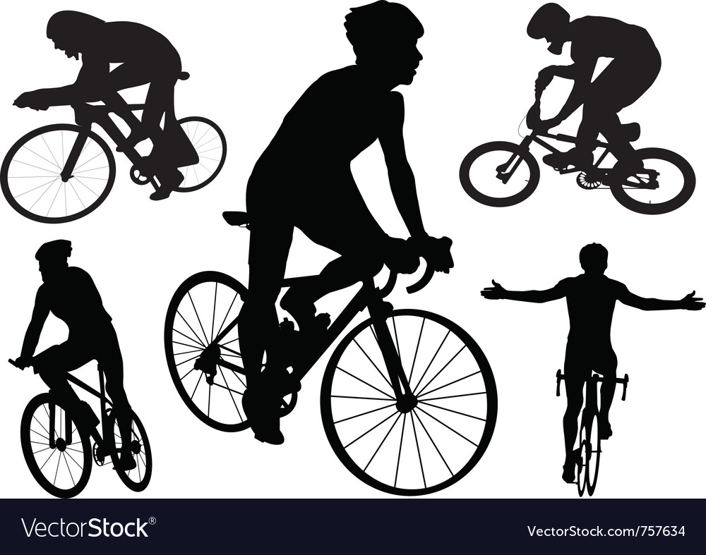 Cyclists vector | Price: 1 Credit (USD $1)