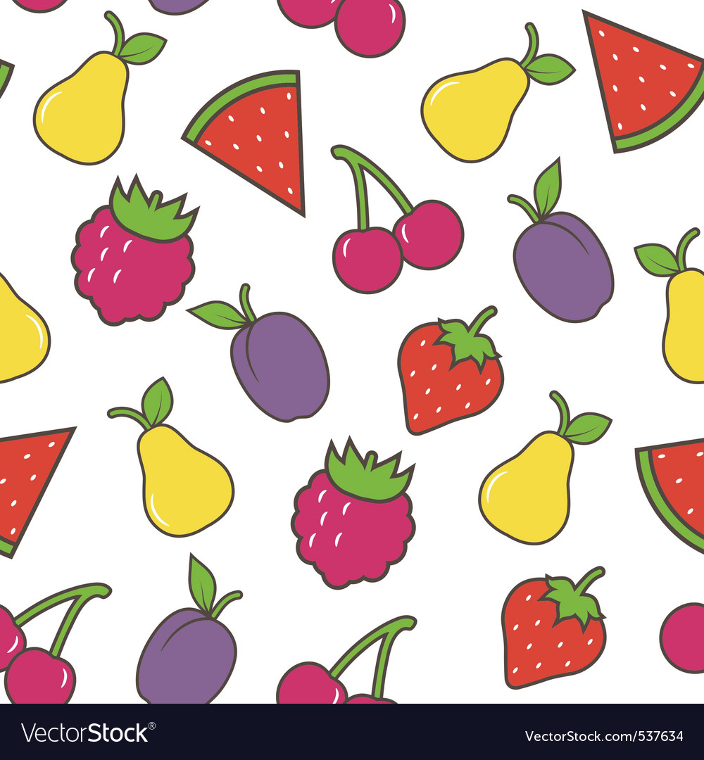 Fruit seamless background vector | Price: 1 Credit (USD $1)