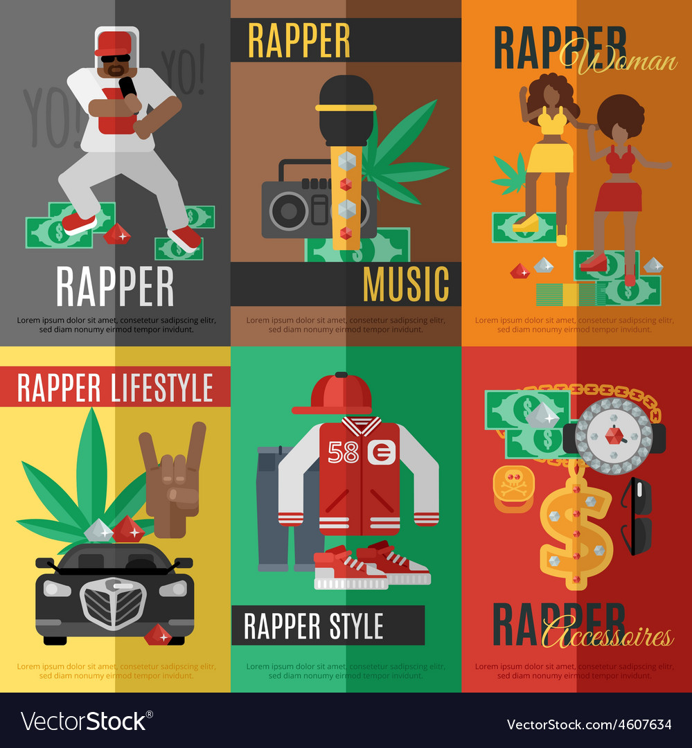 Rap music poster vector | Price: 1 Credit (USD $1)
