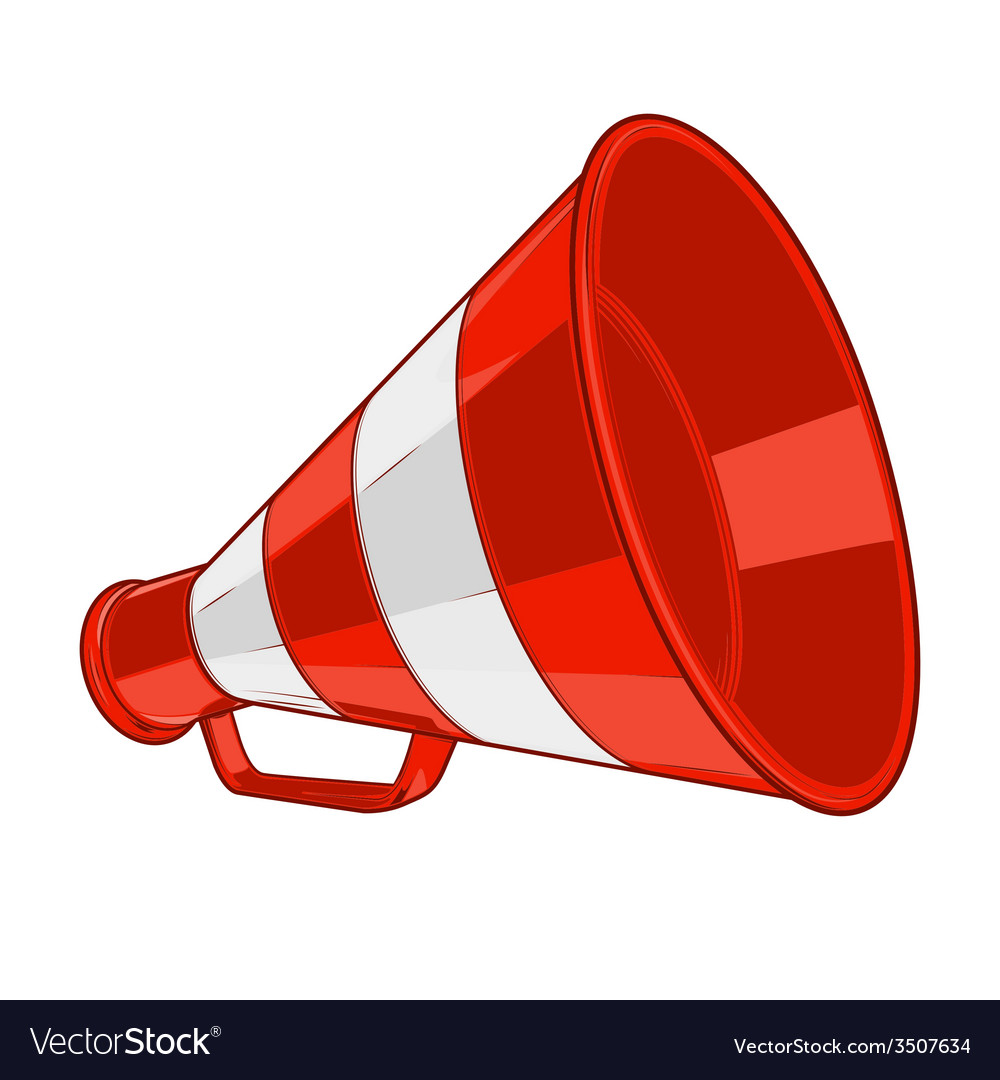 Vintage red megaphone vector | Price: 1 Credit (USD $1)