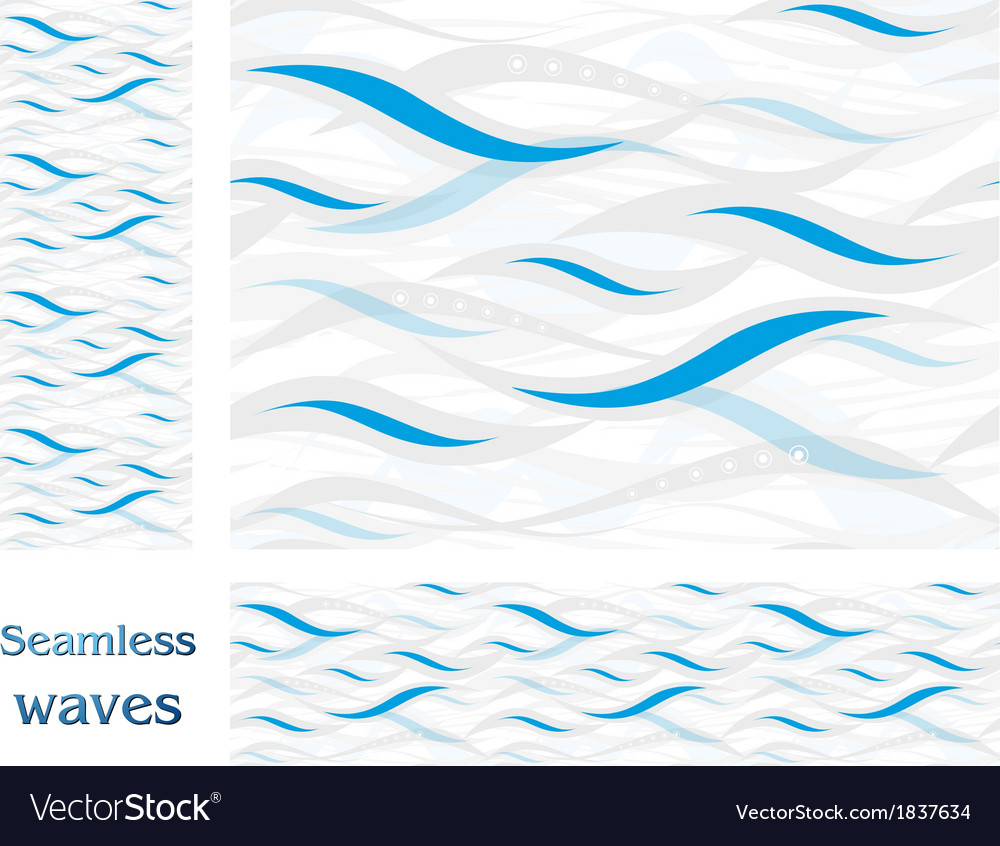 Wavy seamless pattern design vector | Price: 1 Credit (USD $1)