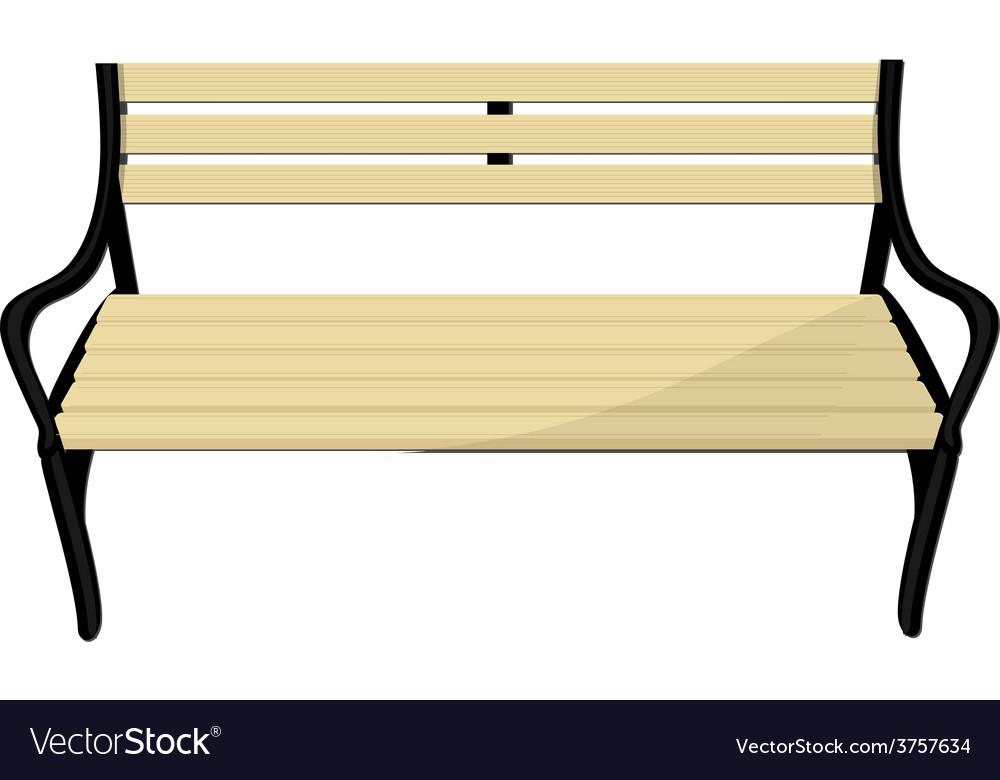 Wooden bench vector   Price: 1 Credit (USD $1)