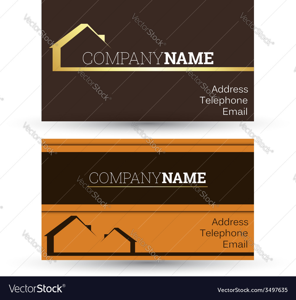 Business card real estate sales vector | Price: 1 Credit (USD $1)