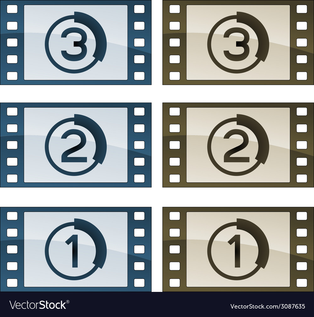 Film strips vector | Price: 1 Credit (USD $1)