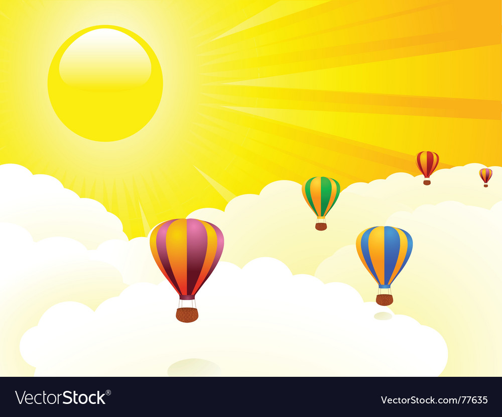 Floating above the clouds vector | Price: 1 Credit (USD $1)