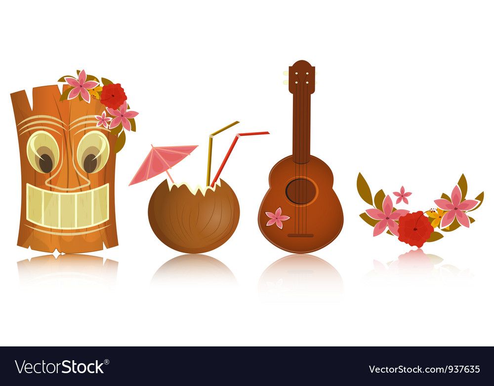 Hawaiian icons vector | Price: 3 Credit (USD $3)
