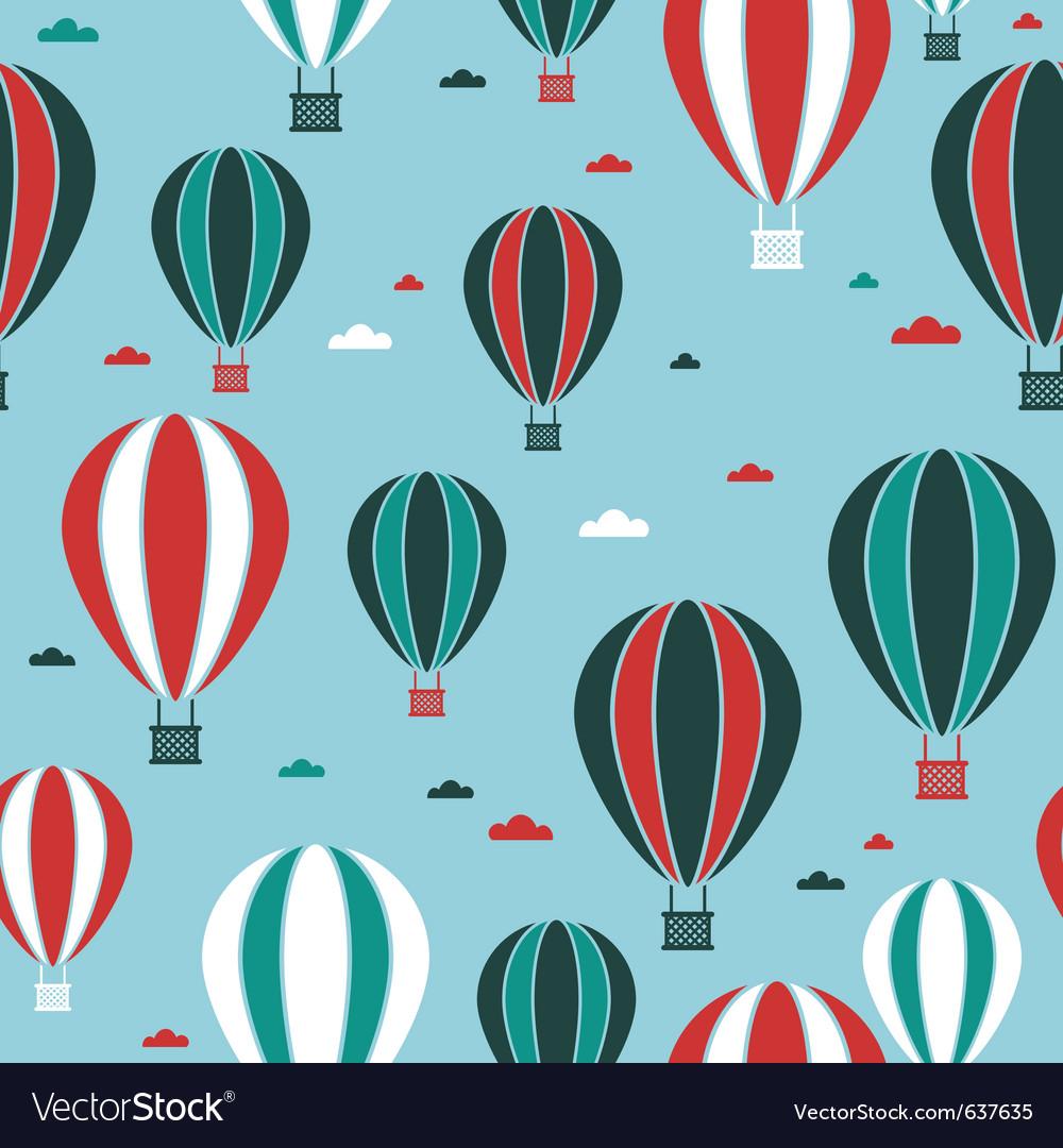 Hot air balloon pattern vector | Price: 1 Credit (USD $1)