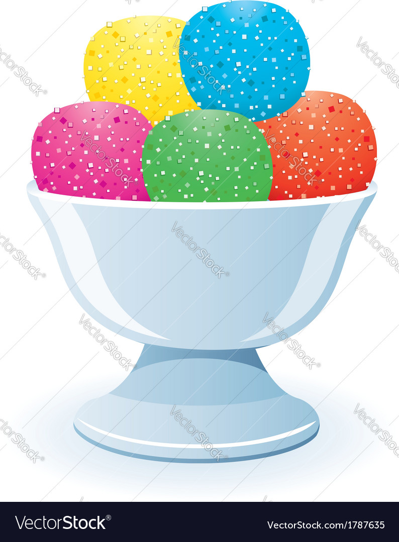 Jelly in a bowl vector | Price: 1 Credit (USD $1)