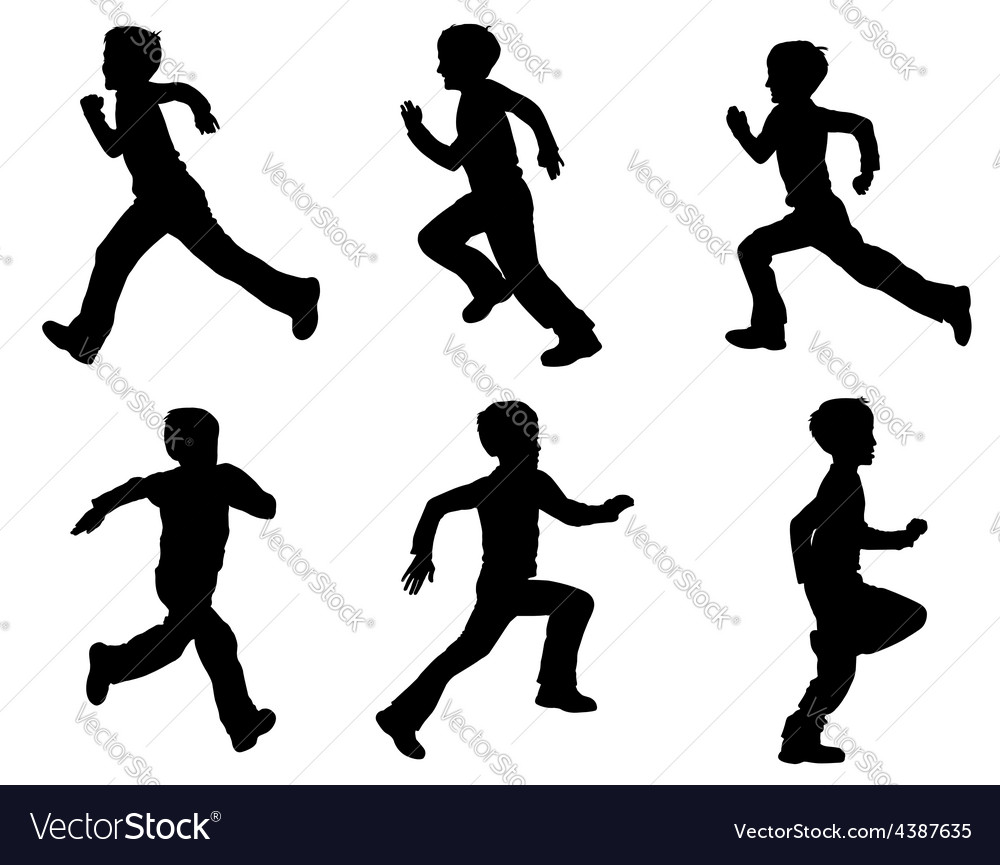 Kid running vector | Price: 1 Credit (USD $1)
