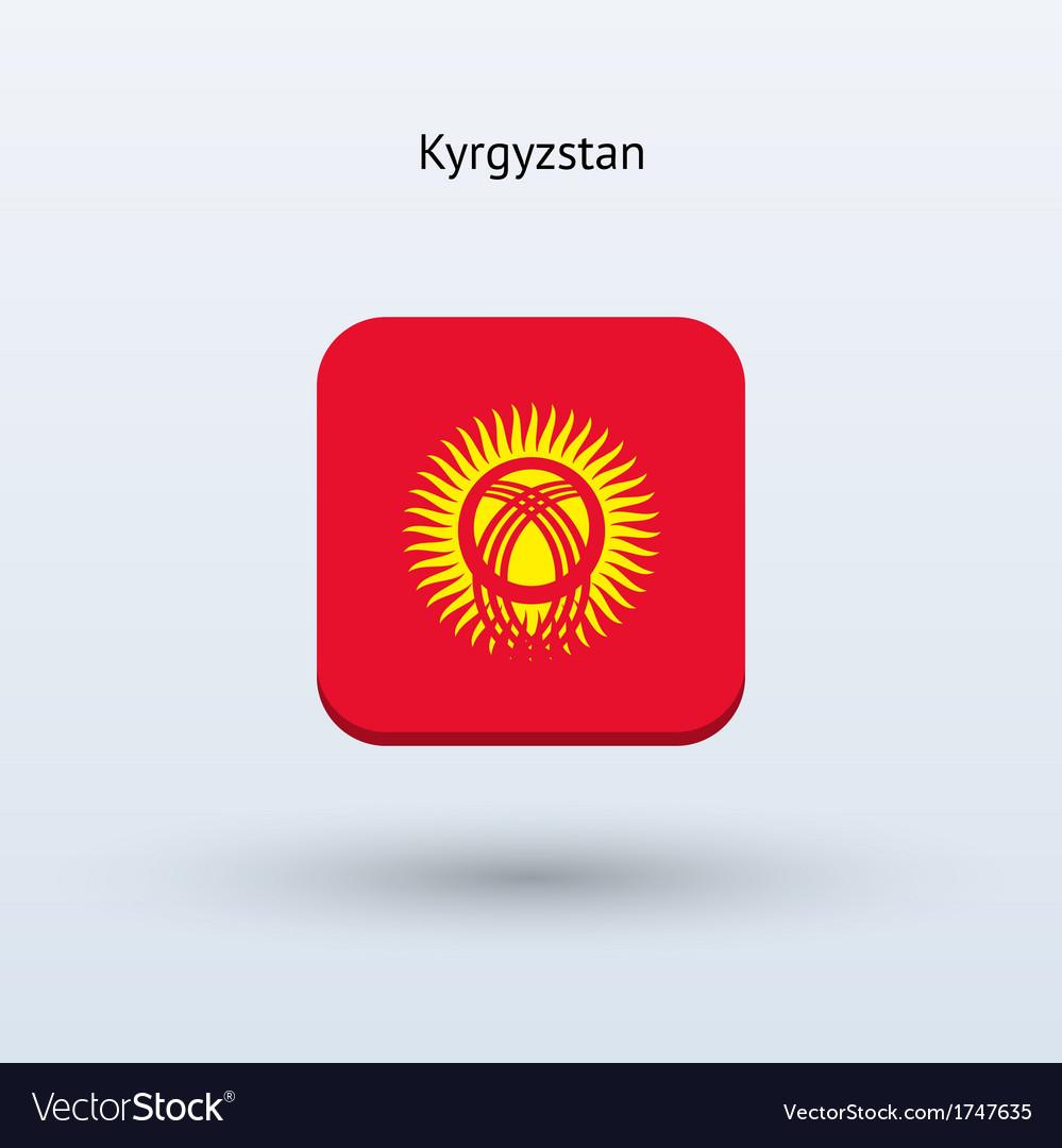 Kyrgyzstan flag icon vector | Price: 1 Credit (USD $1)