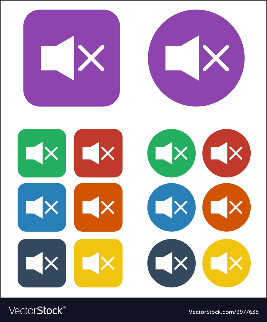 Mute sound icon vector | Price: 1 Credit (USD $1)
