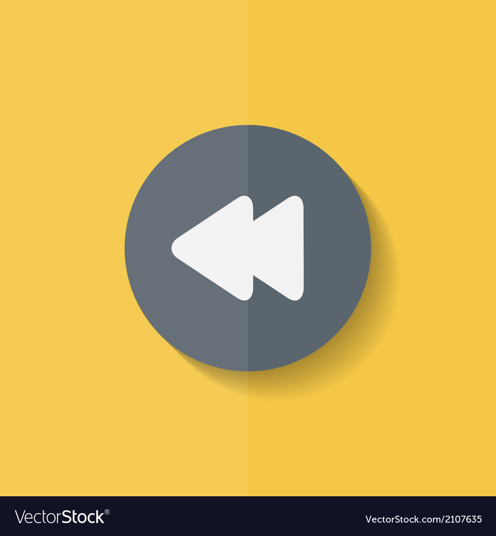 Reverse or rewind icon media player flat design vector | Price: 1 Credit (USD $1)