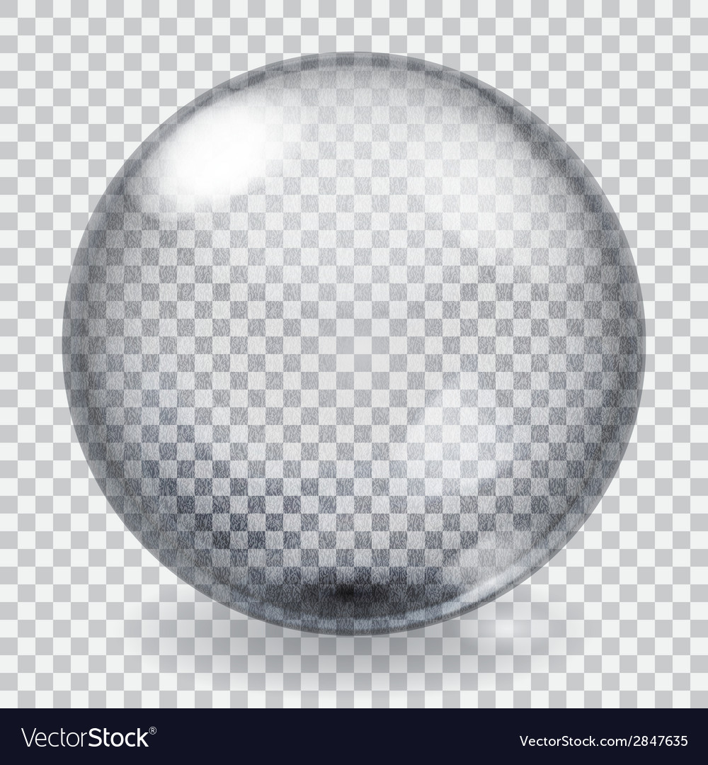 Transparent glass sphere with scratches vector | Price: 1 Credit (USD $1)