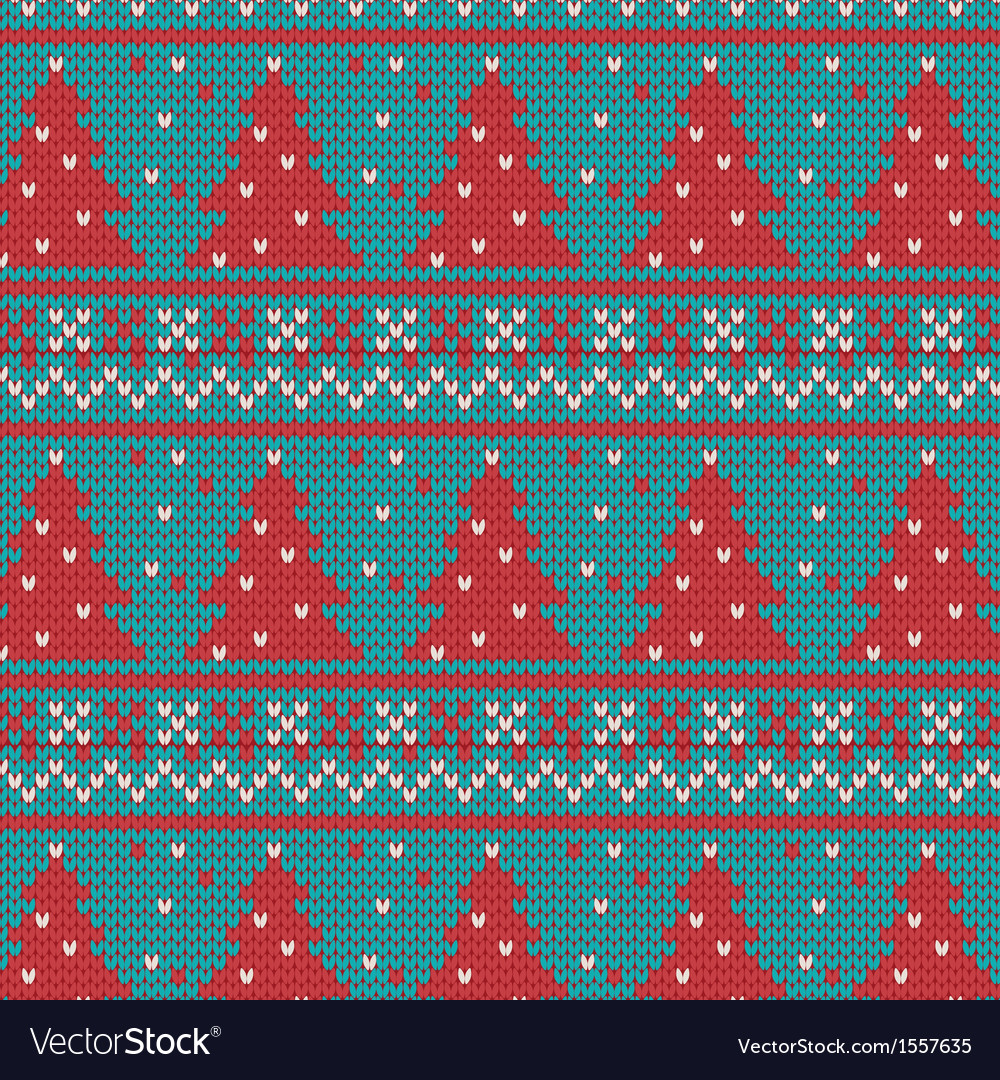 Xmas ornaments - seamless knitted background vector | Price: 1 Credit (USD $1)