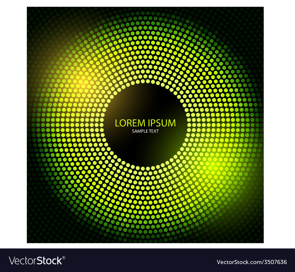 Abstract disco background with halftone vector | Price: 1 Credit (USD $1)
