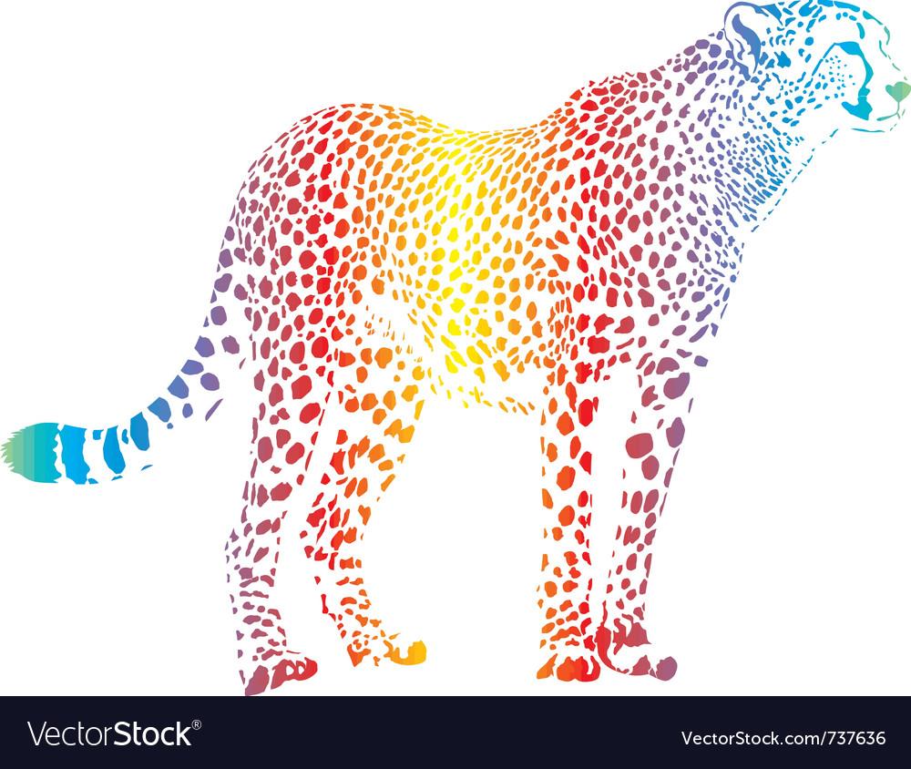 Abstract rainbow cheetah vector | Price: 1 Credit (USD $1)