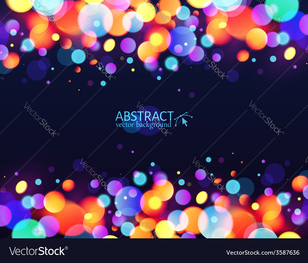 Bright colorful bokeh light effect holiday vector | Price: 1 Credit (USD $1)