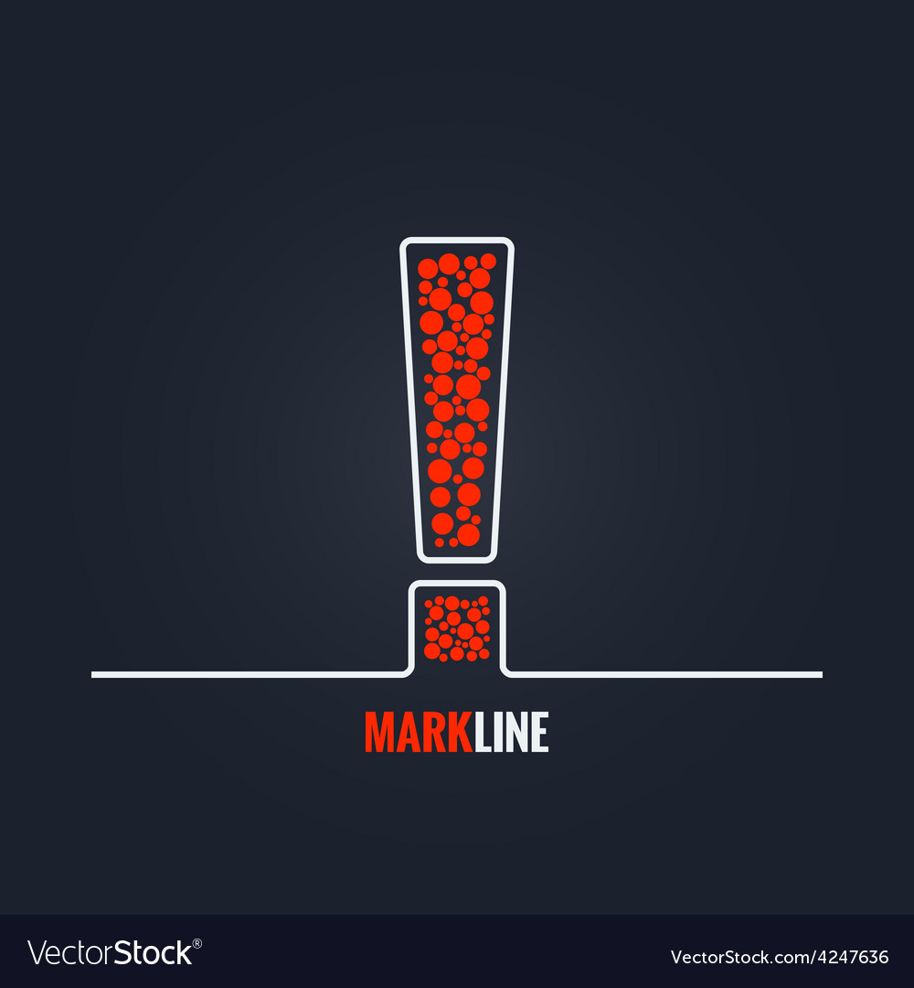 Exclamation mark attention warning background vector | Price: 1 Credit (USD $1)