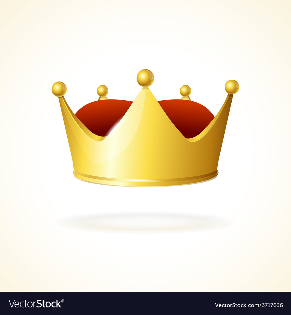 Golden crown vector | Price: 1 Credit (USD $1)