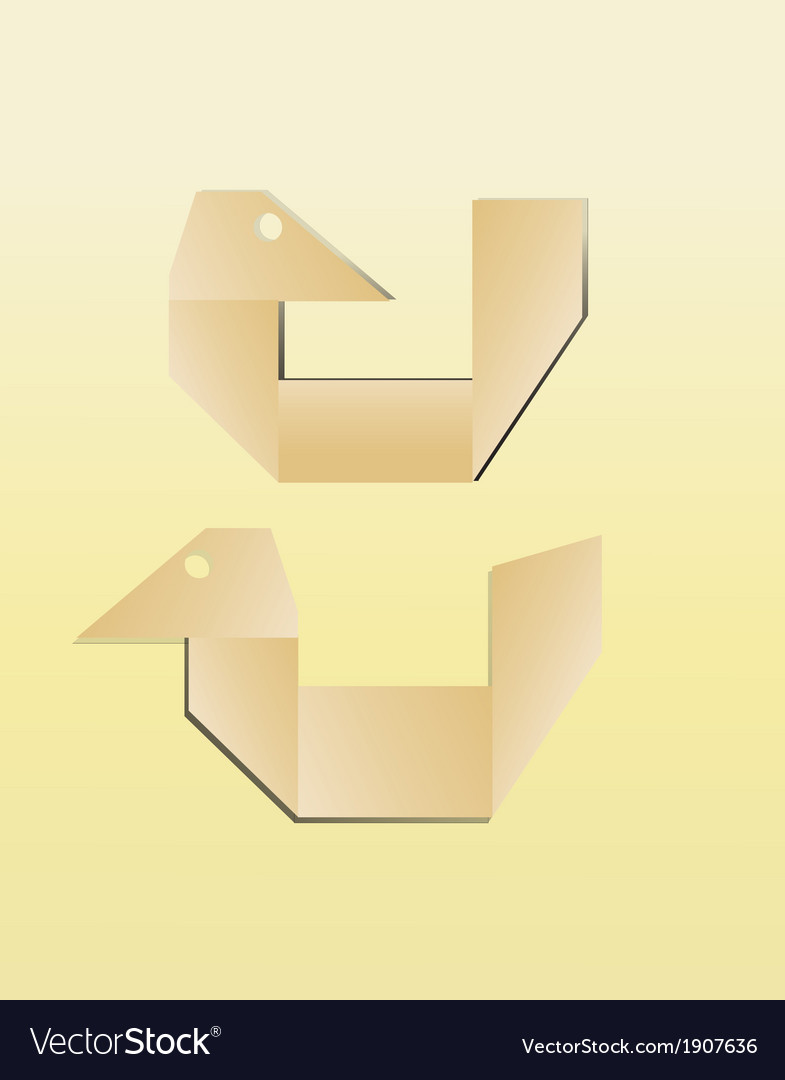 Paper bird icon vector | Price: 1 Credit (USD $1)