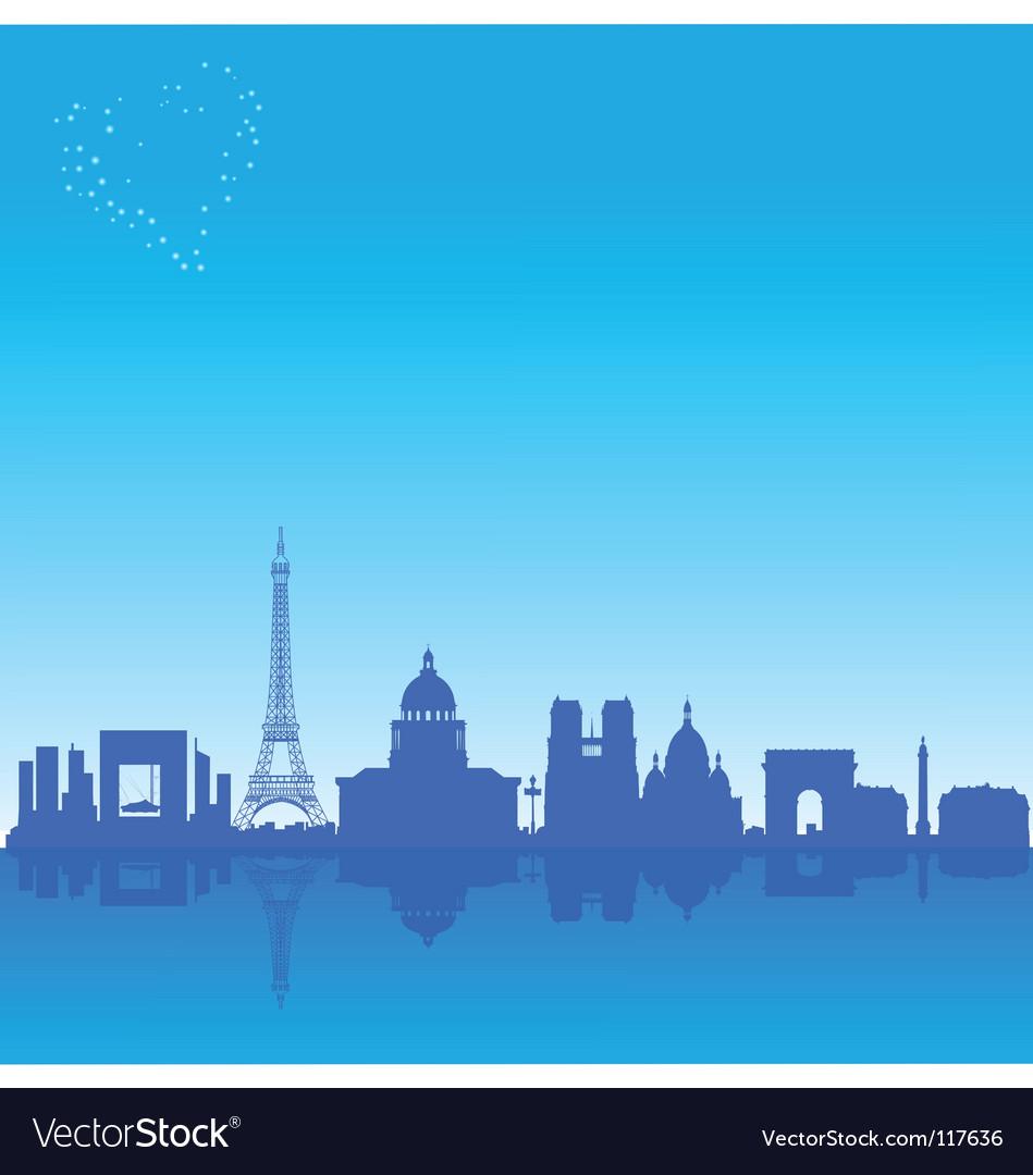 Paris silhouette vector   Price: 1 Credit (USD $1)