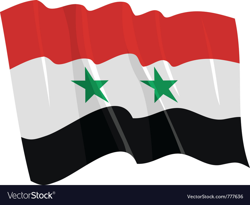 Political waving flag of syria vector   Price: 1 Credit (USD $1)